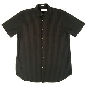 Calvin Klein Black Button Down Short Sleeve Shirt